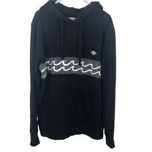 Billabong black hoodie sweatshirt